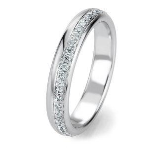 Verlovingsring witgoud met diamant