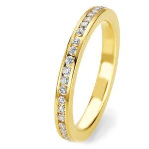 Verlovingsring geelgoud met diamant
