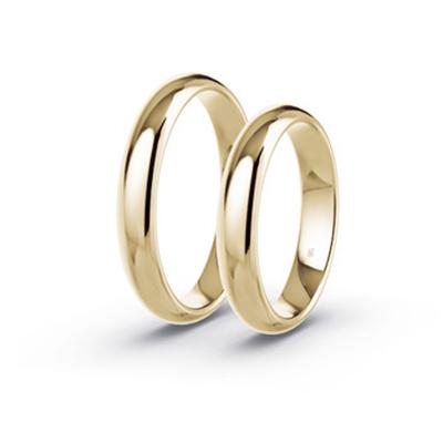klassieke, gladde trouwringen
